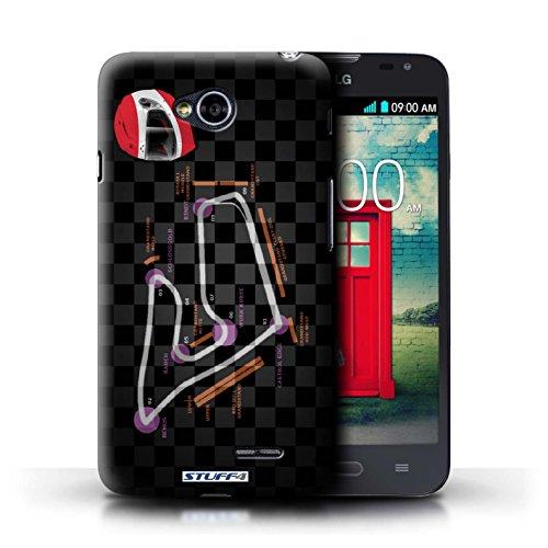 Kobalt® Imprimé Etui / Coque pour LG L70/D320 / Russie/Sochi conception / Série 2014 F1 Piste Autriche/Spielberg