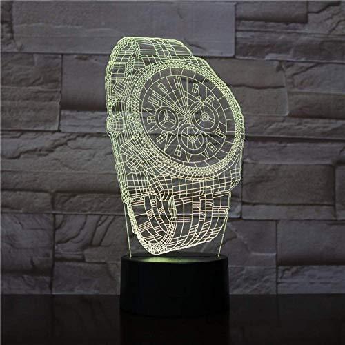 3d nachtlicht abstrakte armbanduhr form 7 farben ändern touch-schalter baby schlaf usb 3d nachtlicht lampe für wohnkultur 3d-1954 schlafzimmer dekor