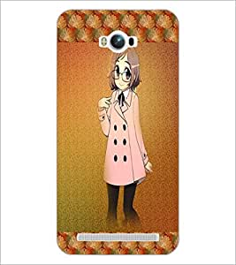 PrintDhaba Studious Girl D-4585 Back Case Cover for ASUS ZENFONE MAX ZC550KL (Multi-Coloured)