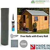 Shed Roofing Felt | Green Mineral | 10m x 1m | Free Nails & Adhesive