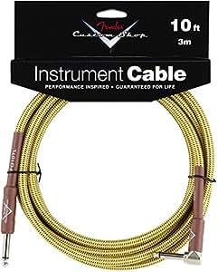 Fender Performance series Custom Shop jack / ang jack cable Tweed 10ft (3m)