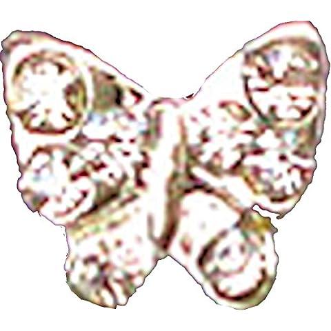 Alla moda inserti in fissaggio con viti e senza scatoletta, contenuto: 4 pcs, #45 farfalle pietra esterni caratteristiche del suono con