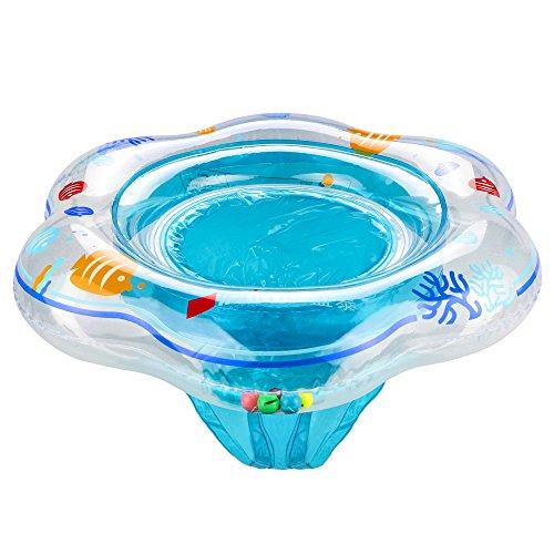 Baby Schwimmen Ring,Komake Kleinkind Kinder Schwimmender Schwimmhilfe Schwimmsitz Aufblasbarer Baby Schwimmring Hals,Geeignet für 1- 3 Jahre altes Baby