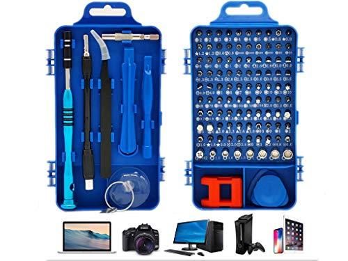Manfâ Präzisions-Schraubendreher-Set - 110 Teile - für Smartphones, Tablets, PCs, Spielkonsolen, Kameras, Uhren, Brillen, Styling und Zubehör/Reparatur-Kits (blue)