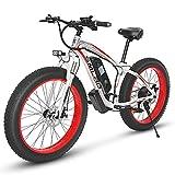 """KUDOUT Vélo Electrique 26"""" E-Bike, 800W 48V Batterie au Lithium de Grande Capacité et Le Chargeur Premium Suspendu et Shimano 21 Engrenage"""