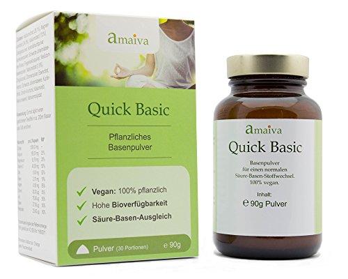 Basenpulver Quick Basic, 1-Monatspackung (100% Vegan, gluten- und laktosefrei)