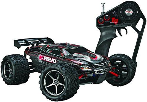 Traxxas remote control truck, E-Revo 1/16, black, TRX71054-1
