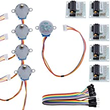 ROSENICE 5 Stücke Stepper Motor Schrittmotor 5V 28BYJ-48 ULN2003 + Treiberplatine ULN2003 für Arduino Professional