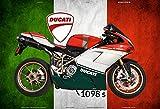 ComCard Ducati 1098s Italien Motorrad blechschild