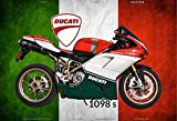 Schatzmix Ducati 1098s Italien Motorrad blechschild