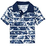 The Children's Place Boys' Print Jersey Polo, Hudson Bay