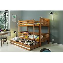 """LITERA INFANTIL TRIPLE (3 camas) 190x80, """"CARINO"""", colchones incluidos! (aliso)"""