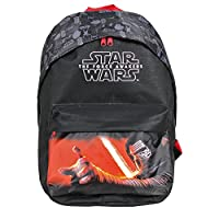 Star Wars Backpack for Kids - Black Travel Bag with Front Pocket with Kylo Ren Print - Small Backpack for School and Kindergarten for Children - 40x30x18 cm - Perletti