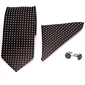 gadzo® Krawatten 3er Set schwarz gemustert STK23