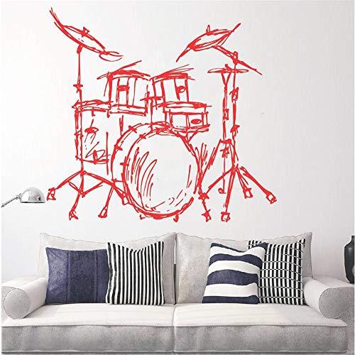 Set Trommeln Silhouette Wandbild Home Wohnzimmer Mode Dekor Musik Instrument Trommeln Set Kits Wandaufkleber Qualität Tapete 42 * 46 cm -