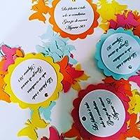 25 Tag - Etichette per matrimonio, regalo, eventi, pacchetti, battesimo