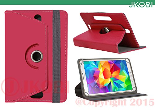 Jkobi 360* Rotating Front Back Tablet Book Flip Flap Case Cover Compatible For Samsung Galaxy Tab 3 Lite 7. 0 -Pink  available at amazon for Rs.230