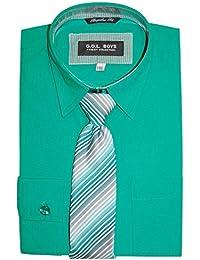 G.O.L. - Jungen Festliches Langarmhemd (Hemd ohne Krawatte), Grün, Größe 146 31b7bef829
