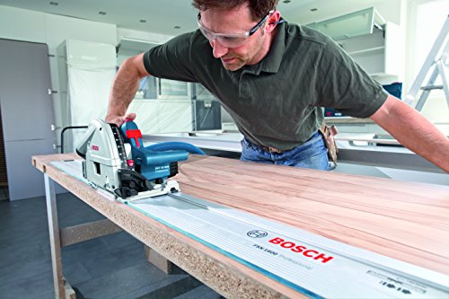 Bosch Professional Tauchsäge GKT 55 GCE, Kreissägeblatt Best for Wood, 1400 Watt-Motor, 165 mm Saägeblattdurchmesser, L-Boxx, 1 Stück, 0601675001 - 5