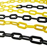 Black and yellow barrier Plastic Chain 5mm 5meters
