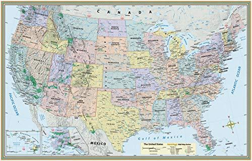 U.S. Map-Laminated
