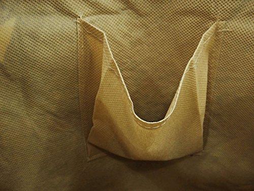 """Baumwolle Jute Frauen Schulter Tribal Druck Tasche beiläufige Damen Strandtasche Favor Bag 13,5"""" x 12,5"""" Zoll Beige und Rosa"""