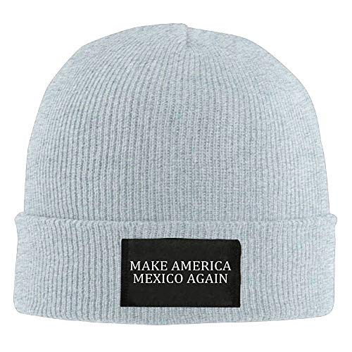 DHNKW Make America Mexico Again Winter Warm Knit Hats Skull Caps Soft Cuff Beanie Hat for Men and Women Chunky Knit Visor Beanie