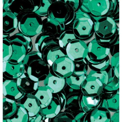 Verde 6 mm semicírculo con diseño de lentejuelas/(4000 piezas) pinflair