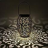 WZTO Lanterna solare,le luci solari marocchina Silhouette appendere le luci IP44 Impermeabile LED Vintage Lampada da Giardino Forma di Nuvola Appeso Lampada Per Patio cortile Balcone