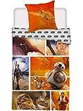 Star Wars Wende Bettwäsche Set 135x200cm + 80x80cm 100% Baumwolle Rey Chewbacca 549