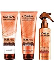 L'Oréal Paris Routine Pure Liss : Shampoing + Après-shampoing + Masque