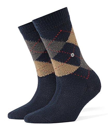 BURLINGTON Damen Socken Whitby, Warm Und Weich, 1 Paar, Blau (Navy 6153), Größe: 36-41