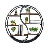 Schweberegale Runde Wandregal Metall Eisen Holz Für Bar Wohnzimmer Wohnzimmer Wandbehang Retro Kreative Massivholz Regal Trennwand Dekoration (größe : 108 * 16 * 88cm)