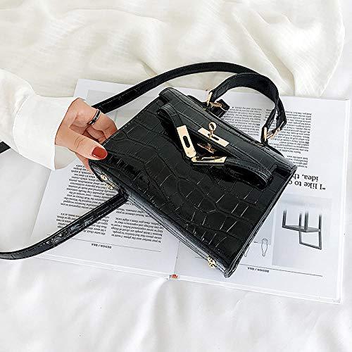 YZJLQML DamentascheWild Fashion Mini Handtasche Schulter Diagonale Paket Kelly Bag - schwarz -