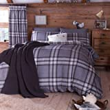 Catherine Lansfield Kelso Single Duvet Set - Charcoal