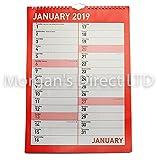2019–Agenda mensile fidanzamento calendario da parete con finiture di alta qualità