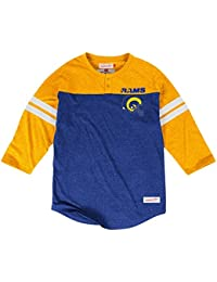 Los Angeles Rams Mitchell & Ness NFL Starting 3/4 Sleeve Tri-blend Henley Shirt Chemise