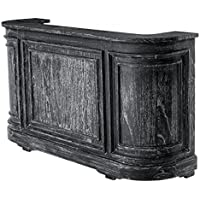 Casa-Padrino Vintagelook counters Cabinet 190 cm Counter Black Washed Antique Style - Counter Shop Furnishing - Comparador de precios