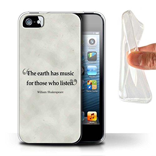 Coque Gel TPU de STUFF4 / Coque pour Apple iPhone SE / Albert Einstein Design / Citations Célèbres Collection Shakespeare