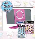 Mädchen Stereoanlage Mini Anlage Pink MC5220 inkl. Hello Kitty Sticker