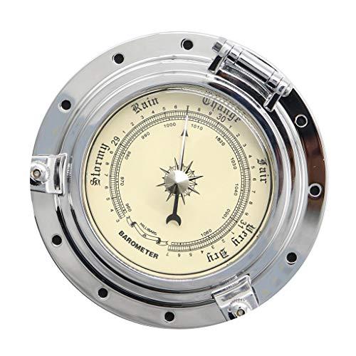 Baoblaze Vintage Barometer Barometer Kompensierte Boot Schiff Rad Nautisch barometrischen