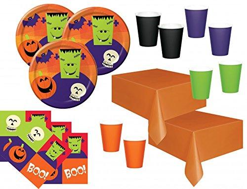 n Fingerfood Partygeschirr Set für 32 Personen (Fingerfood Halloween)