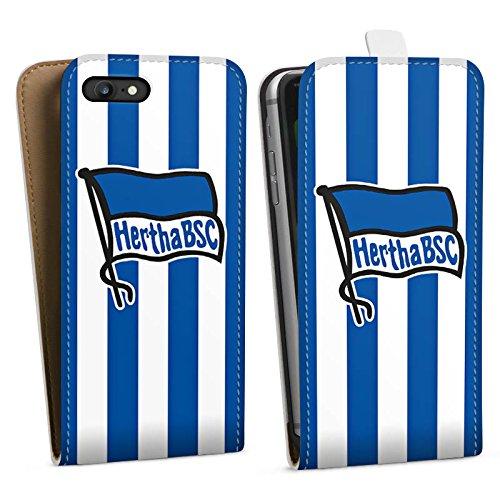 Apple iPhone X Silikon Hülle Case Schutzhülle Hertha BSC Fanartikel Fußball Bundesliga Downflip Tasche weiß