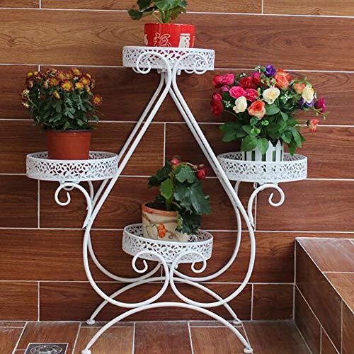 MJJLT Boden Blumenständer Pflanze Stehen Eisenregal Regal im Freien Hauptdekoration 80 * 24CM