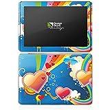 Samsung Galaxy Tab 2 10.1 Autocollant Protection Film Design Sticker Skin C½ur Amour Arc-en-ciel couleur