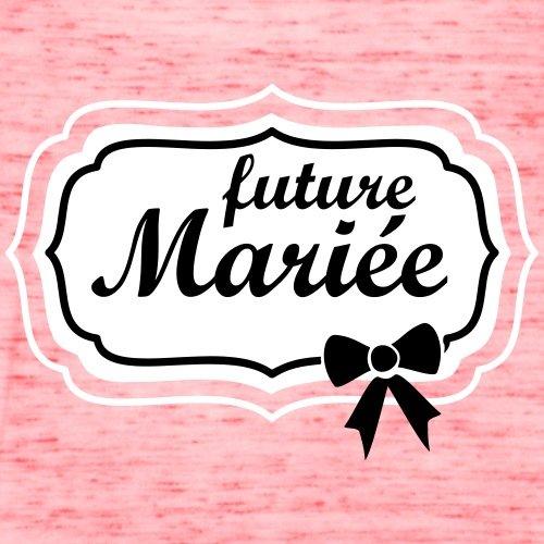 EVJF Future Mariée Débardeur Femme marque Bella de Spreadshirt® rouge marbré