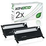 2 Toner kompatibel zu CLP-320 für Samsung CLP-325, CLX-3180, CLX-3185 - CLT-K4072S/ELS - Schwarz je 2.500 Seiten