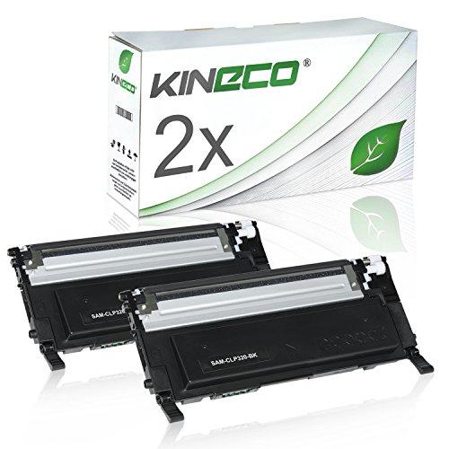 2 Toner kompatibel zu CLP-320 für Samsung CLP-325, CLX-3180, CLX-3185 - CLT-K4072S/ELS - Schwarz je 2.500 Seiten (Toner 3185)