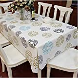 "Spritech(TM) 53.9"" * 70.8"" Fashions Rectangular Waterproof PVC Plastic Table Cloth Table Cover"