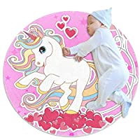Wetia Constellation Wall Clock Round area rug for kid anti-slip outdoor rugs soft with a suede surface gift for girl and boy for living room kids bedroom baby room balcony circle 3